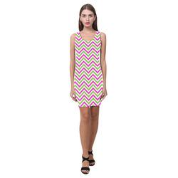Pink Green White Chevron Medea Vest Dress (Model D06)