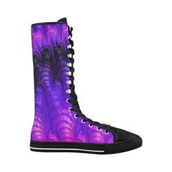 Fractal20160818 Canvas Long Boots For Women Model 7013H