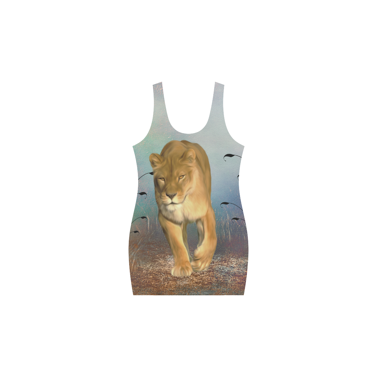 Wonderful lioness Medea Vest Dress (Model D06)