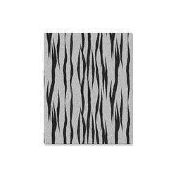 """A Trendy Black Silver Big Cat Fur Texture Canvas Print 16""""x20"""""""