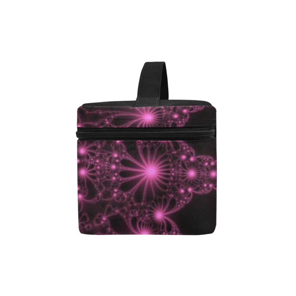 Pink Flower Explosion Cosmetic Bag/Large (Model 1658)