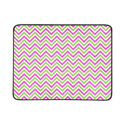 "Pink Green White Chevron Beach Mat 78""x 60"""