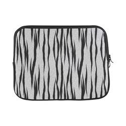 "A Trendy Black Silver Big Cat Fur Texture Custom Laptop Sleeve 13"""