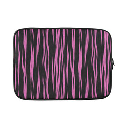 A Trendy Black Pink Big Cat Fur Texture Custom Sleeve for Laptop 15.6""