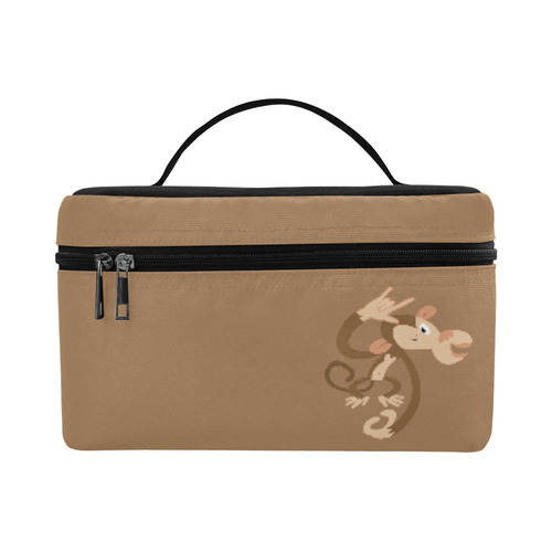ASL I Love You Monkey Cosmetic Bag/Large (Model 1658)