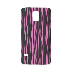 A Trendy Black Pink Big Cat Fur Texture Hard Case for Samsung Galaxy S5