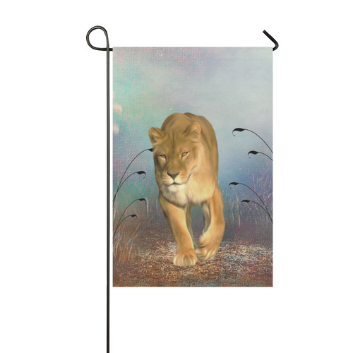 Wonderful lioness Garden Flag 12''x18''(Without Flagpole)