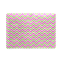 Pink Green White Chevron Custom NoteBook A5