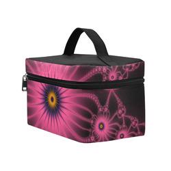 Fuchsia Flower Bloom Cosmetic Bag/Large (Model 1658)