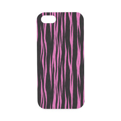 A Trendy Black Pink Big Cat Fur Texture Hard Case for iPhone SE