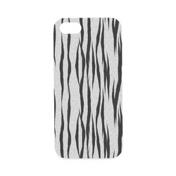 A Trendy Black Silver Big Cat Fur Texture Hard Case for iPhone SE
