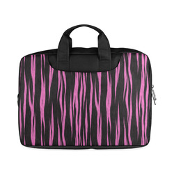 "A Trendy Black Pink Big Cat Fur Texture Macbook Air 11""(Twin sides)"