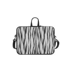 A Trendy Black Silver Big Cat Fur Texture Macbook Air 11''