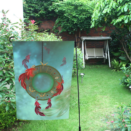 Wonderful dreamcatcher with feather Garden Flag 12''x18''(Without Flagpole)