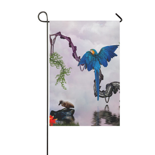 Awesome parrot Garden Flag 12''x18''(Without Flagpole)