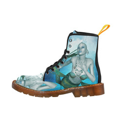 Wonderful mermaid in blue colors Martin Boots For Women Model 1203H