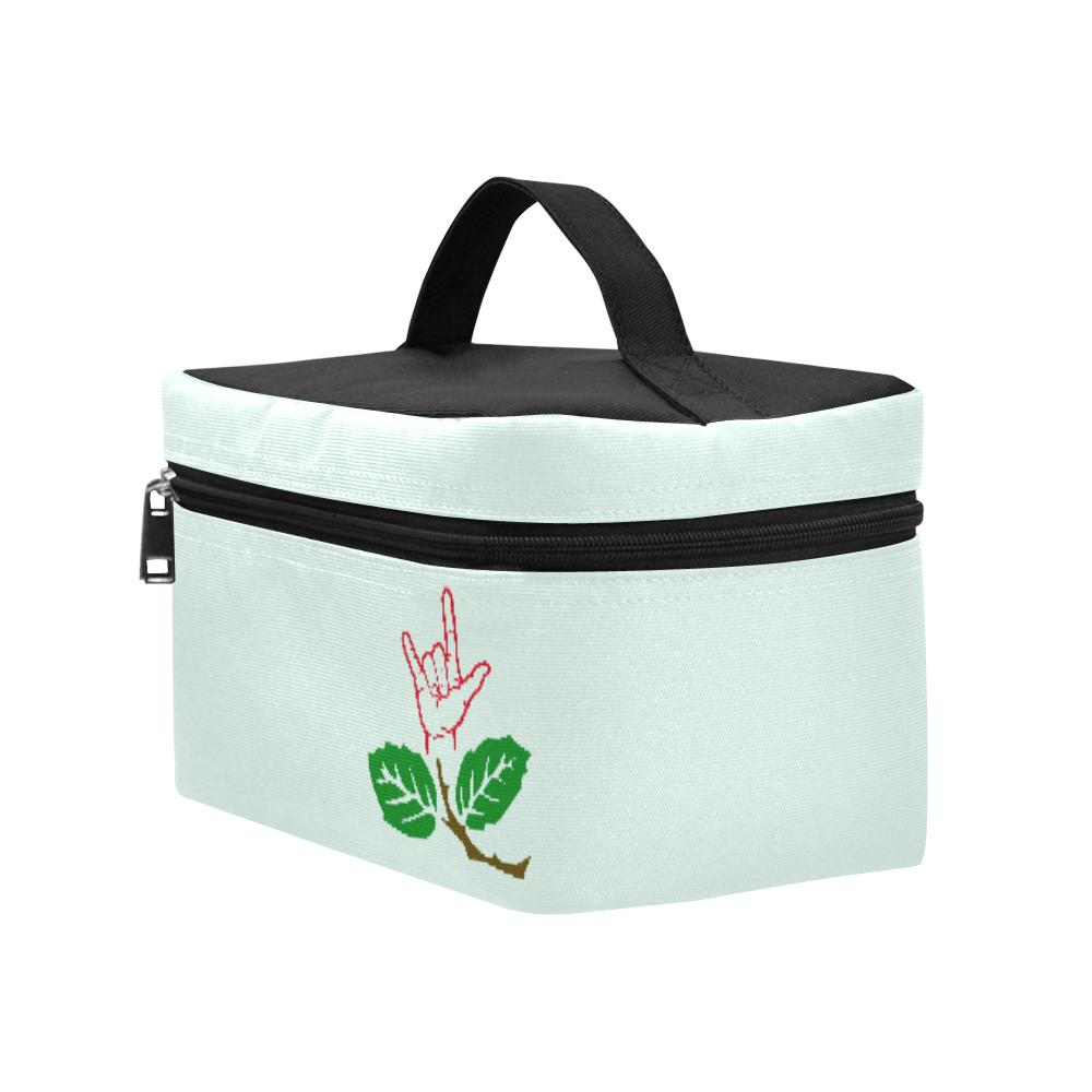 ASL Flower Cosmetic Bag/Large (Model 1658)