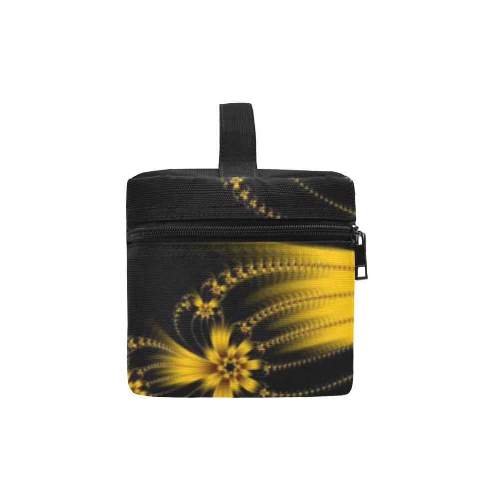 Copper Flower Burst Cosmetic Bag/Large (Model 1658)