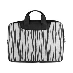 "A Trendy Black Silver Big Cat Fur Texture Macbook Air 13""(Twin sides)"