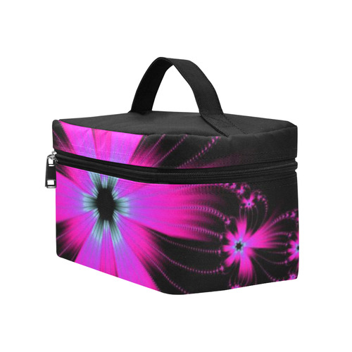 Pink Flower Burst Cosmetic Bag/Large (Model 1658)