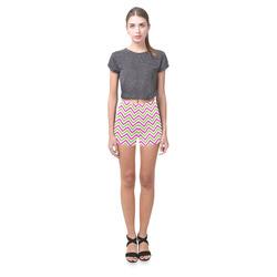 Pink Green White Chevron Briseis Skinny Shorts (Model L04)