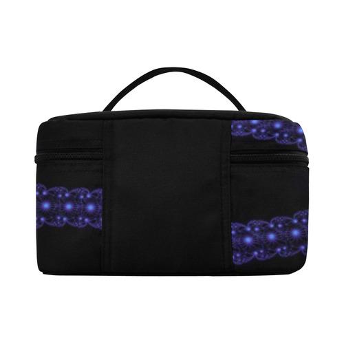 Blue Flower Explosion Cosmetic Bag/Large (Model 1658)