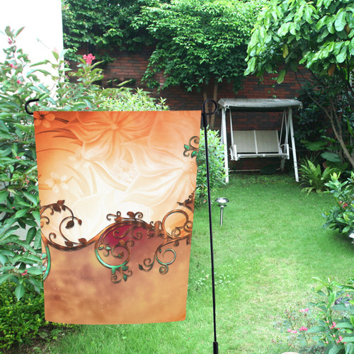 A touch of vintage, soft colors Garden Flag 12''x18''(Without Flagpole)