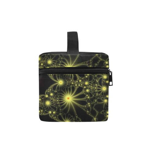 Yellow Flower Explosion Cosmetic Bag/Large (Model 1658)