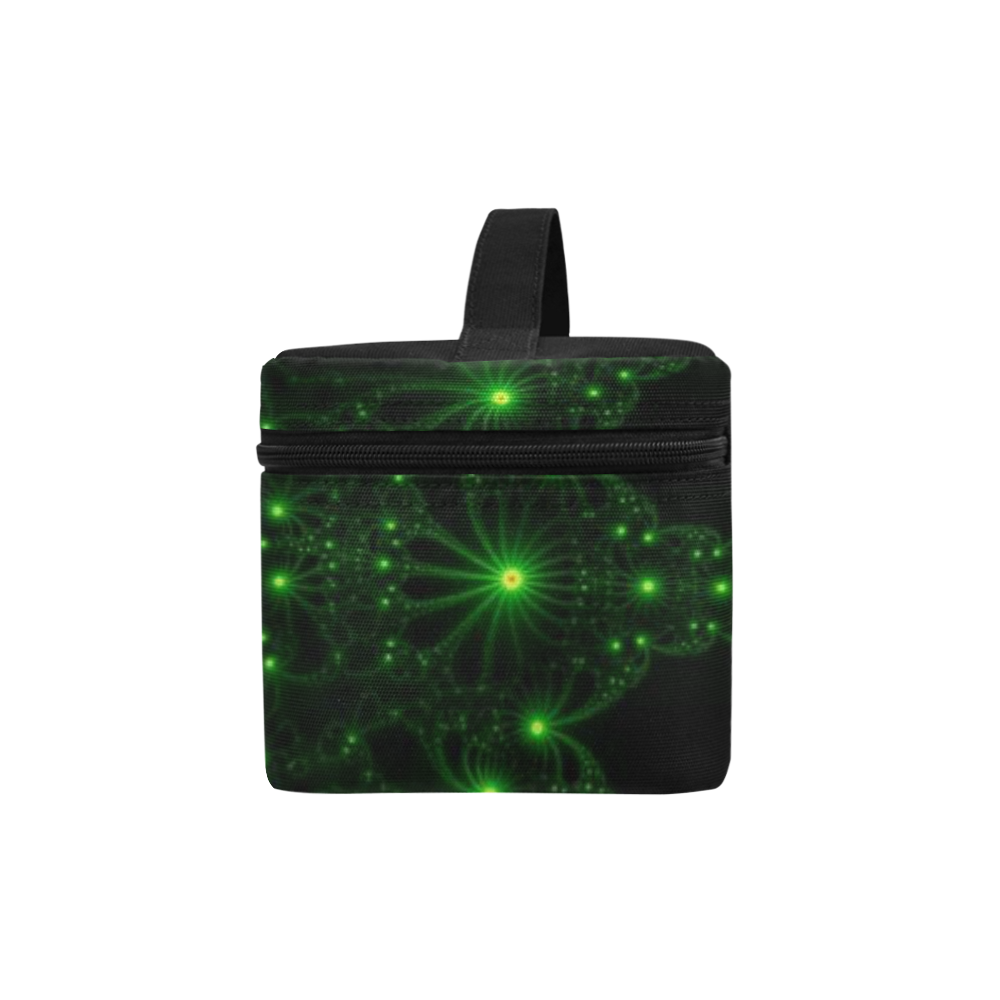 Green Flower Explosion Cosmetic Bag/Large (Model 1658)