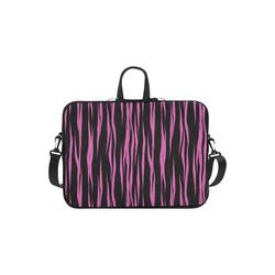 A Trendy Black Pink Big Cat Fur Texture Macbook Air 11''