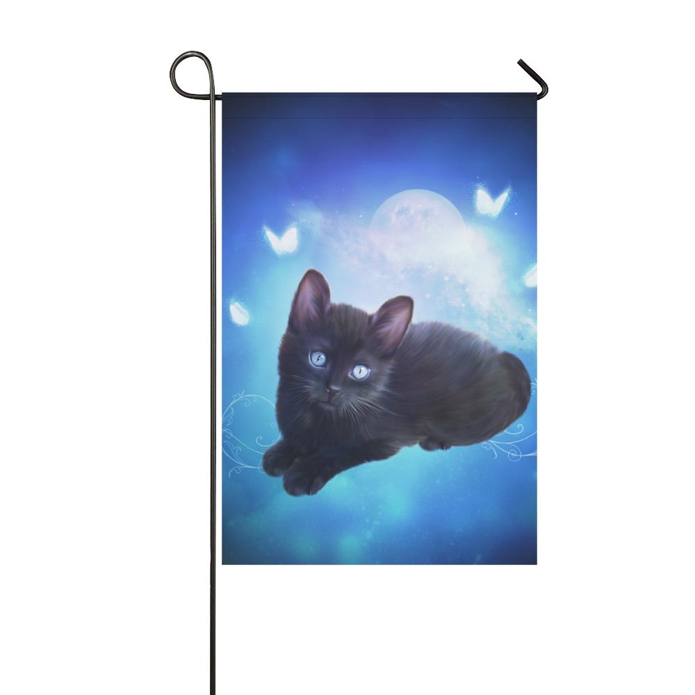 Cute little back kitten Garden Flag 12''x18''(Without Flagpole)