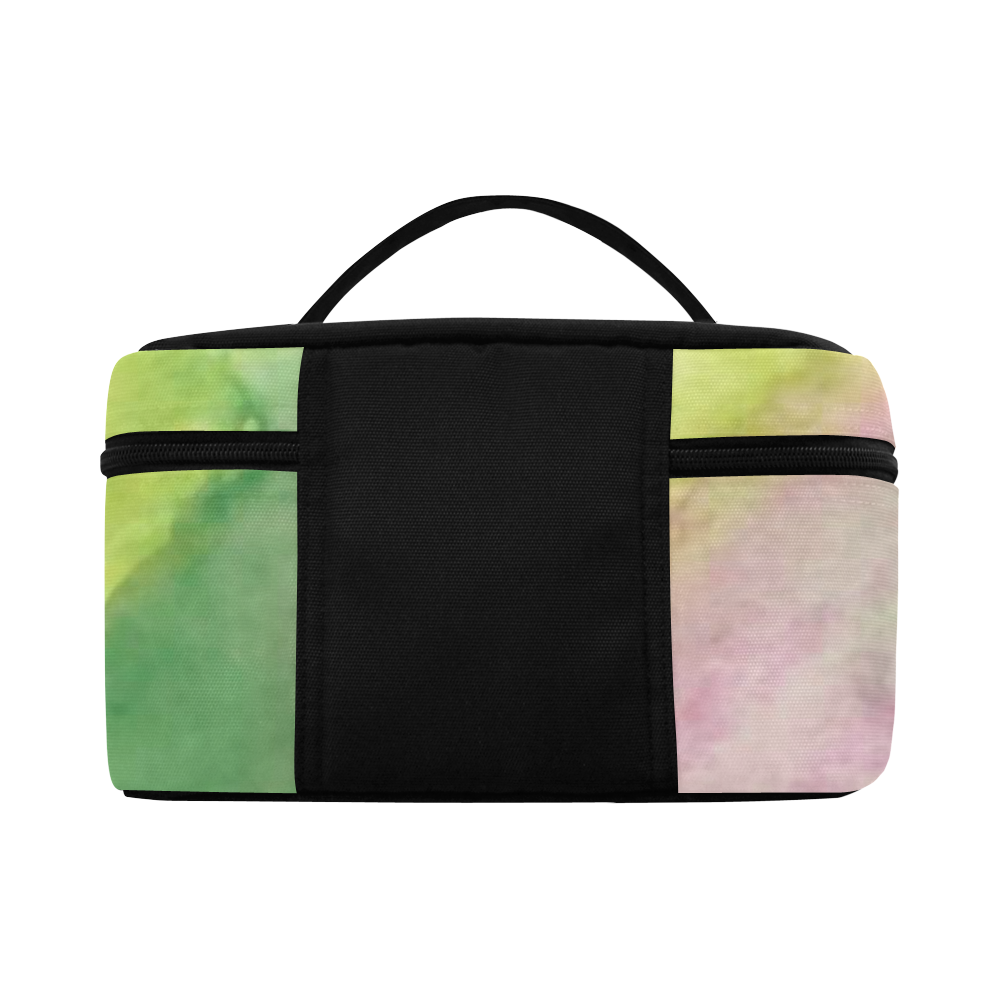Floral Stained Glass Cosmetic Bag/Large (Model 1658)