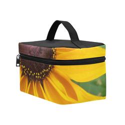 Black Eyed Susan Beauty Cosmetic Bag/Large (Model 1658)