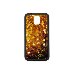 Golden glitter texture with black background Rubber Case for Samsung Galaxy S5