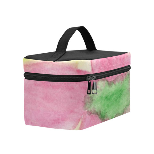 Pink Flower Blossom Cosmetic Bag/Large (Model 1658)
