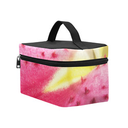 Pink Lily Freckles Cosmetic Bag/Large (Model 1658)