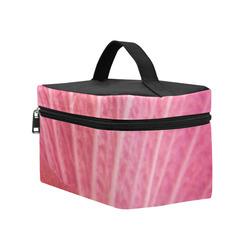 Pink Rose of Sharon Detail Cosmetic Bag/Large (Model 1658)