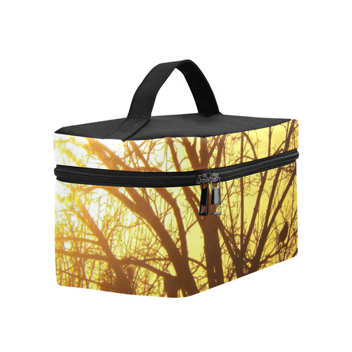 Silhouetted on Gold Cosmetic Bag/Large (Model 1658)
