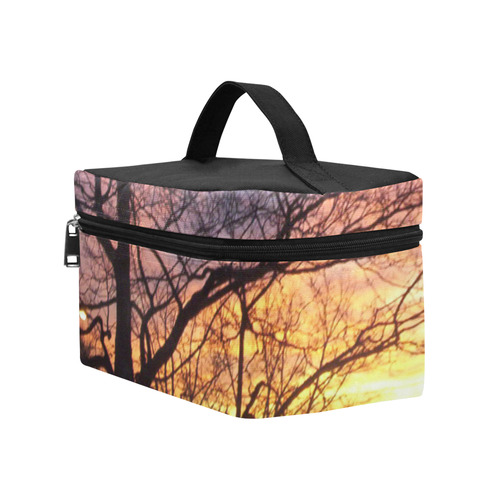 Purple Sunset Cosmetic Bag/Large (Model 1658)