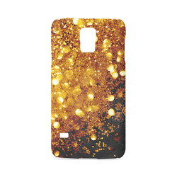 Golden glitter texture with black background Hard Case for Samsung Galaxy S5