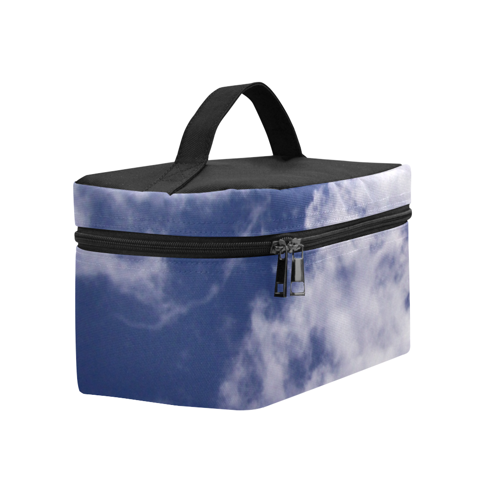 Pulled Cotton Clouds Cosmetic Bag/Large (Model 1658)