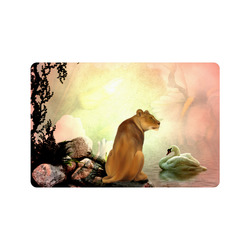 "Awesome lioness in a fantasy world Doormat 24"" x 16"""