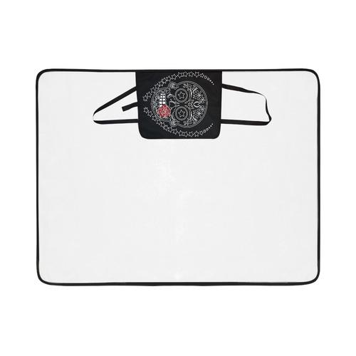 Sugar Skull Red Rose Portable & Foldable Mat 60''x78''