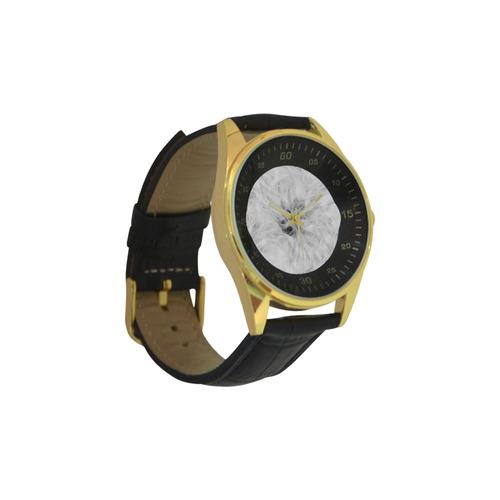 Cotton Light - Jera Nour Men's Golden Leather Strap Watch(Model 210)