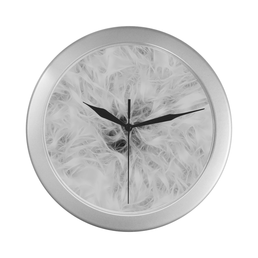 Cotton Light - Jera Nour Silver Color Wall Clock