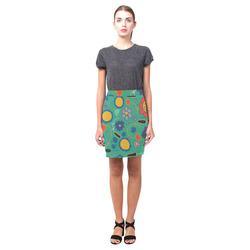 spring flower green Nemesis Skirt (Model D02)