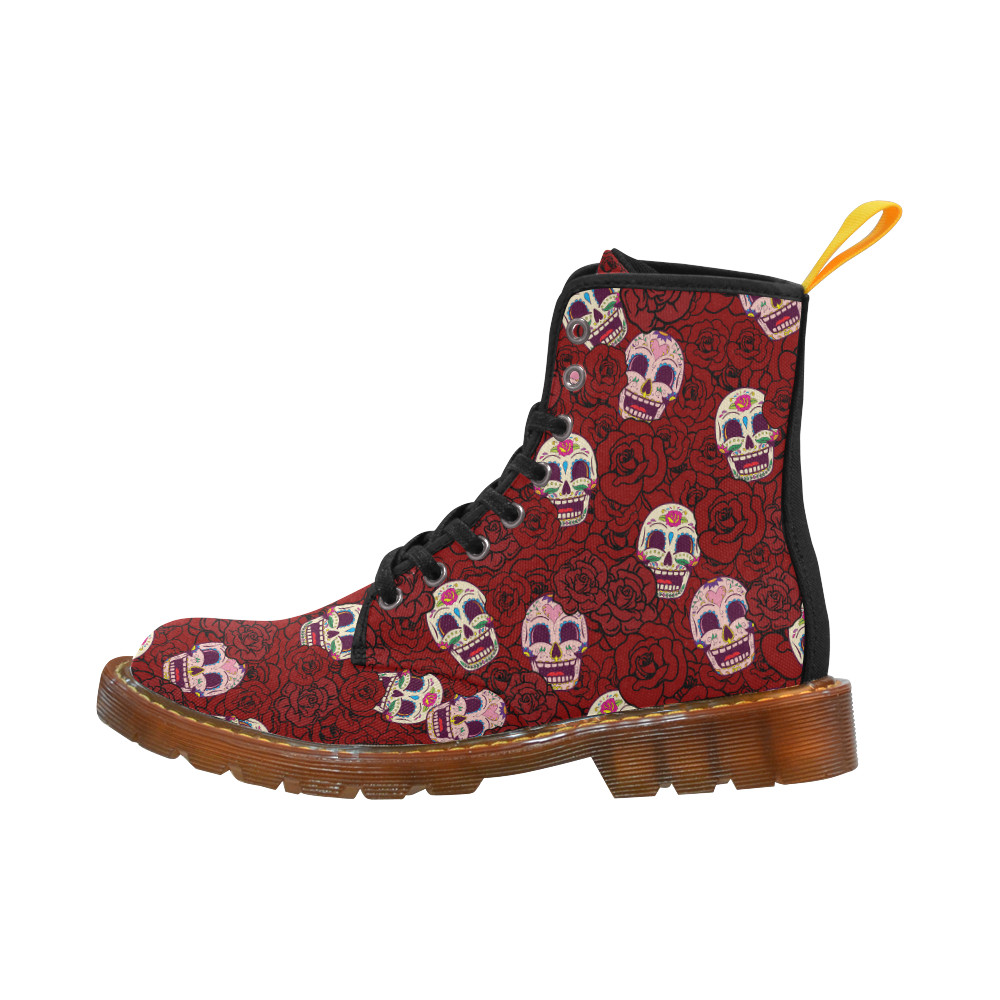 Rose Sugar Skull Martin Boots For Men Model 1203H