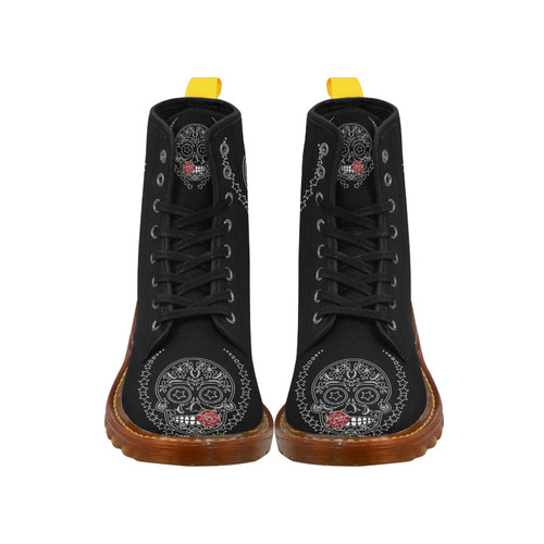 Sugar Skull Red Rose Martin Boots For Women Model 1203H