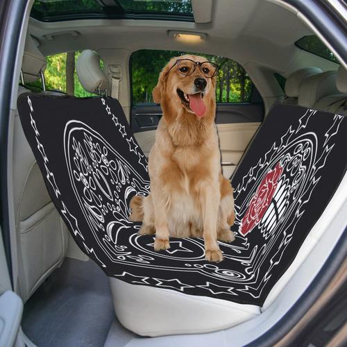 Sugar Skull Red Rose Pet Car Seat 55''x58''