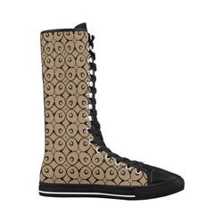My Lucky Day Iced Coffee Canvas Long Boots For Women Model 7013H